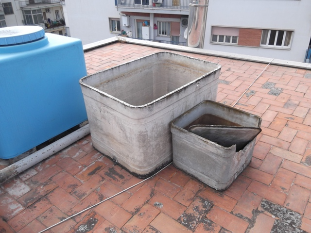 Bonifica di cisterne in eternit